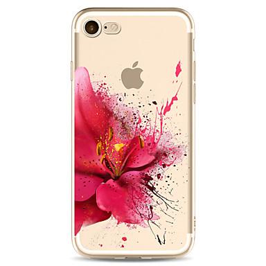 Für iPhone X iPhone 8 Hüllen Cover Transparent Muster Rückseitenabdeckung Hülle Blume Weich TPU für Apple iPhone X iPhone 8 Plus iPhone 8
