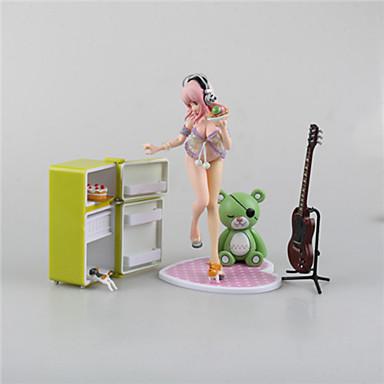 Anime Čísla akce Inspirovaný Super Sonico cosplay PVC 15cm CM Stavebnice Doll Toy Unisex