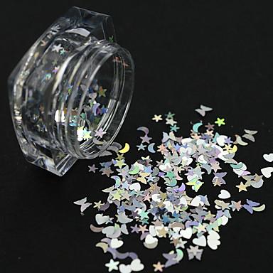1 pcs Flitry / Glitter na nehty Zářivé / Laserová holografická Design nehtů