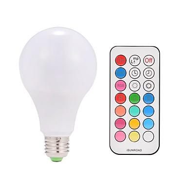 1pç 9 W 600 lm E26 / E27 Lâmpada de LED Inteligente A80 38 Contas LED LED Integrado Controle Remoto / Decorativa / Cores Gradiente Branco Quente / RGBWW 85-265 V / 1 pç / RoHs