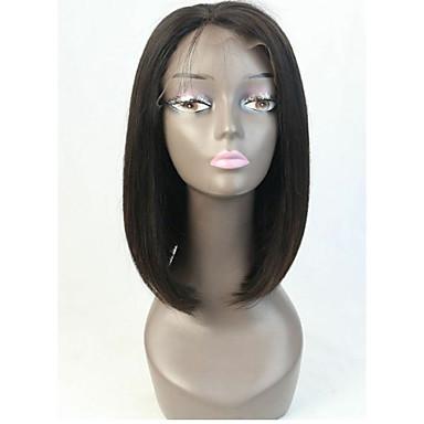 Přírodní vlasy Se síťkou Paruka Volný 130% Hustota 100% ručně vázaná Afroamerická paruka Přírodní vlasová linie Krátký Střední Dámské