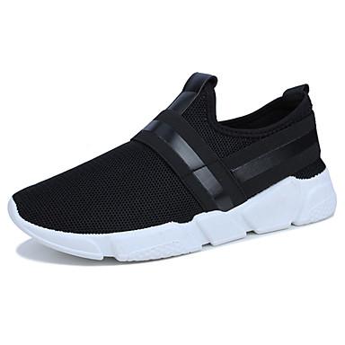 Homens sapatos Borracha Primavera Outono Conforto Tênis para Ao ar livre Preto Cinzento