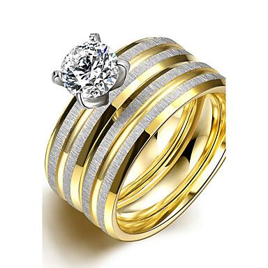 Dámské Zásnubní prsten Prsten Band Ring Pro nevěstu Módní minimalistický styl Titanová ocel Kulatý Kostýmní šperky Vánoční dárky Svatební