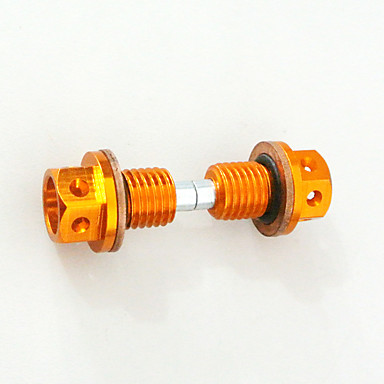 2pcs cnc tarugo de alumínio vazamento de óleo magnético parafuso de parafusadeira de dente bicicleta crf50