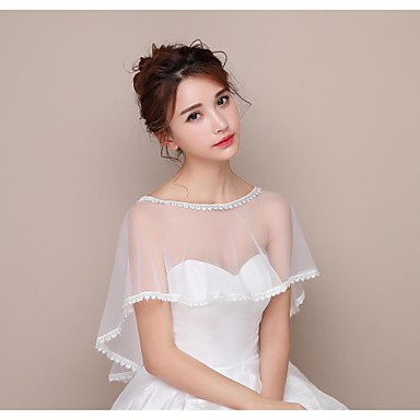 Lace / Tulle Wedding / Birthday Party Women's Wrap With Capelets