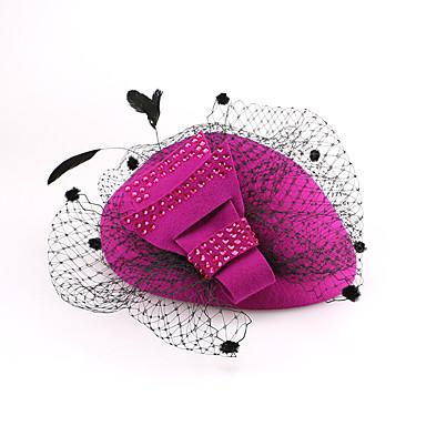 voordelige Hoeden-Wol Kentucky Derby Hat / hatut met 1 Bruiloft / Speciale gelegenheden  / Causaal Helm