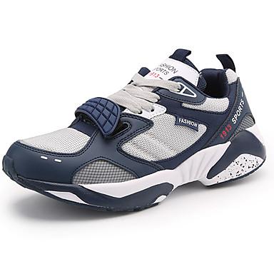 Homens sapatos Tule Primavera Outono Conforto Tênis Basquete Cadarço para Atlético Branco Preto Azul