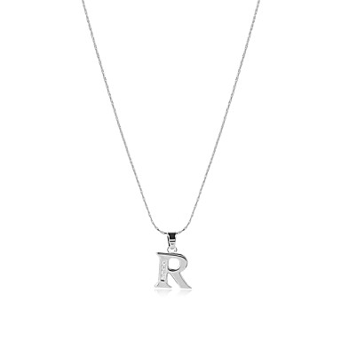 Kubikzirkonia Logo / Monogramme Anhängerketten - Zirkon Alphabet Form Erklärung, Böhmische, Boho Silber Modische Halsketten Für Hochzeit, Jahrestag, Abschluss