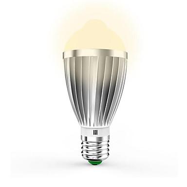 7W 650lm E26 / E27 LED chytré žárovky G60 14pcs LED korálky SMD 5630 Infračervený senzor Ovládání světla Senzor lidského těla Teplá bílá