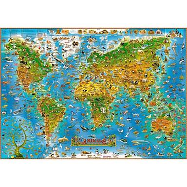 Puzzle Hračky Obdélníkový Dřevo Unisex Pieces