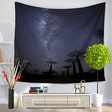 Landscape Wall Decor 100% Polyester Patterned Wall Art, Wall Tapestries Decoration