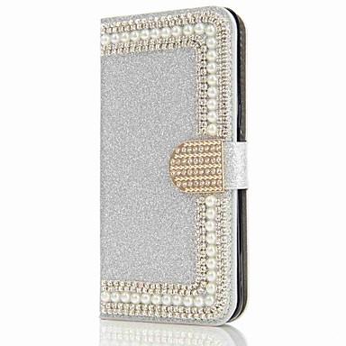 Capinha Para Samsung Galaxy S8 Plus / S8 Carteira / Porta-Cartão / Com Strass Capa Proteção Completa Rígida para S8 Plus / S8 / S7 edge
