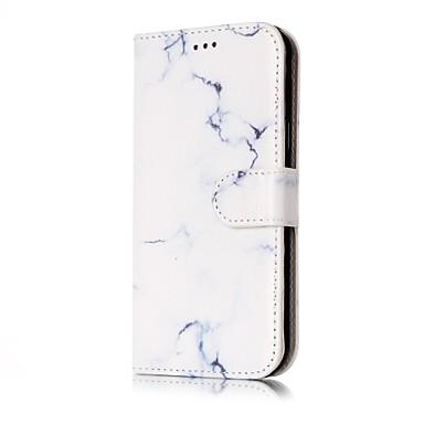 Capinha Para Samsung Galaxy J7 (2016) J5 (2016) Porta-Cartão Carteira Com Suporte Flip Capa Proteção Completa Mármore Rígida PU Leather
