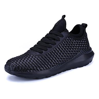 Men's PU(Polyurethane) Spring / Fall Athletic Shoes Walking Shoes White / Black