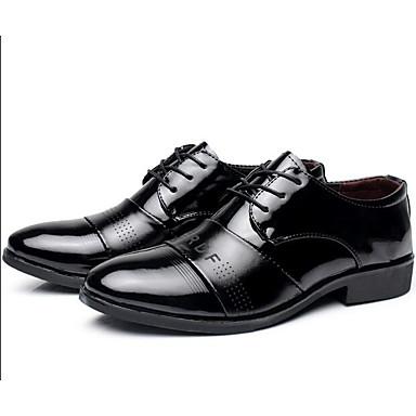 Pánské Boty Koženka Jaro Pohodlné Svatební obuv Pro Ležérní Černá Kávová Barva obrazovky