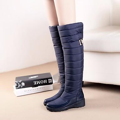 Naisten Kengät Mokkanahka Talvi Comfort Bootsit Musta / Sininen