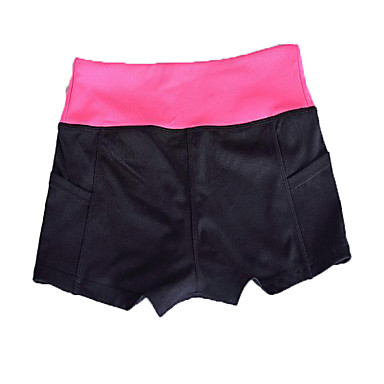 Mulheres Shorts de Corrida Secagem Rápida Ioga Exercício e Atividade Física Corrida Bamboo-Fibra Carbono Preto Laranja Cinzento