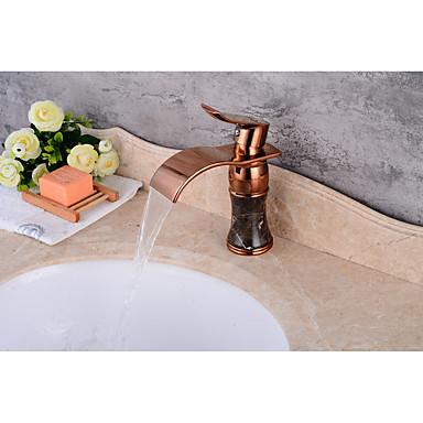 Moderne Mittellage Keramisches Ventil Einhand Ein Loch Waschbecken Wasserhahn