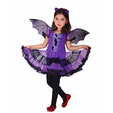 Bruxa Fantasias de Cosplay Artigos de Halloween Festa a Fantasia Para Meninas Cosplay de Filmes Roxo Vestido Dia Das Bruxas Carnaval Dia da Criança Poliéster