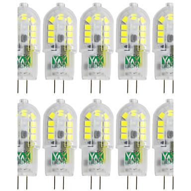 YWXLIGHT® 10pçs 3W 300-400 lm G4 Luminárias de LED  Duplo-Pin T 18 leds SMD 2835 Branco Quente Branco Frio Branco Natural 12V