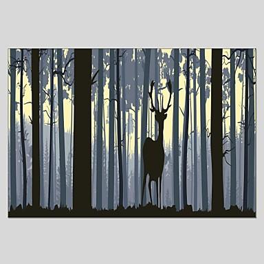Handgemalte Tiere Vertikal Panorama, Klassisch Modern Segeltuch Hang-Ölgemälde Haus Dekoration Ein Panel