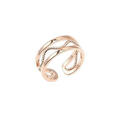 Dámské Prsten Módní minimalistický styl Pozlacené Kulatý Šperky Denní