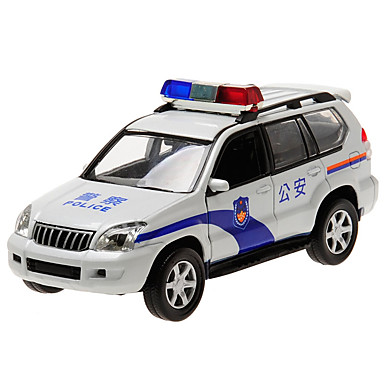 CAIPO Carros de Brinquedo Modelo de Automóvel Carro de Polícia SUV Carrinhos de Fricção Música e luz Simulação Clássico Clássico Para
