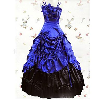Retro / Gothic / Viktorianisch Kostüm Damen Kleid / Party Kostüme / Maskerade Vintage Cosplay Satin / Other Kappe Boden-Länge