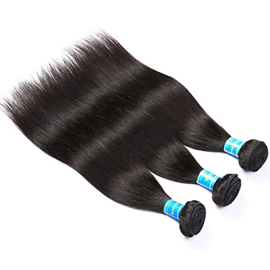 Vietnamesisches Haar Glatt Menschliches Haar Webarten 3 Stück Menschenhaar spinnt