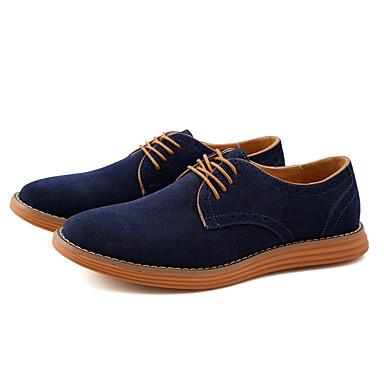 Pánské Obuv Kůže Semiš Jaro Podzim Bullock boty Společenské boty Módní obuv Oxfordské Chůze Rozdělení pro Svatební Kancelář a kariéra