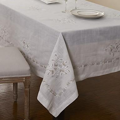 Cotton Blend Table Cloth Patterned Eco-friendly Table Decorations 1 pcs