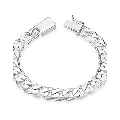 Men's Chain Bracelet - Stainless Steel, Silver Plated Tattoo Style, Vintage, Bohemian Bracelet Silver For Birthday Gift Sports