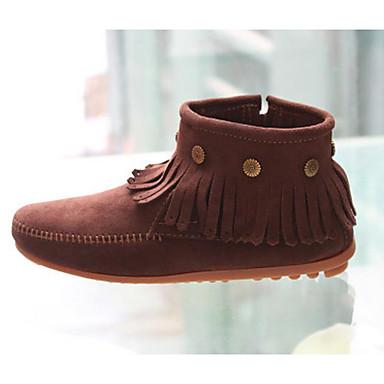 Damen Schuhe PU Winter Komfort Stiefel Für Normal Schwarz Kaffee Hellgelb