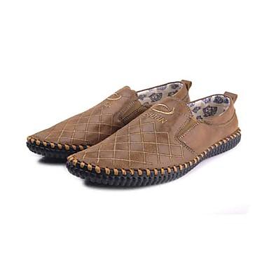Homens sapatos Microfibra Tecido Primavera Outono Sapatos formais Conforto Mocassins e Slip-Ons Caminhada para Casual Escritório e