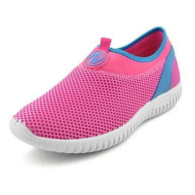 Damen Schuhe Tüll Frühling / Sommer Komfort Sneakers Walking Flacher Absatz Runde Zehe Grau / Rot