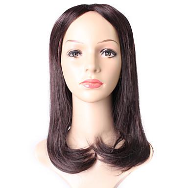 Dámské Syntetické paruky Střední Rovné Tmavě hnědá / dark Auburn Ombre vlasy Přírodní paruka Kostýmová paruka