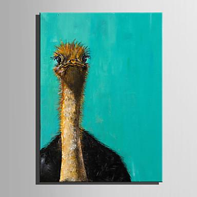 Pintura a Óleo Pintados à mão - Animais Moderna Tela de pintura