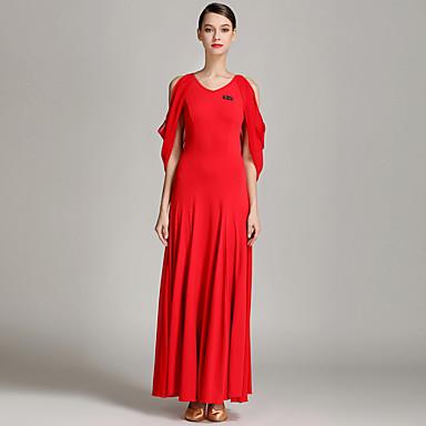 Für den Ballsaal Damen Leistung Chiffon - Satin Kristall-Baumwolle Tüll Anhänger Ärmellos Normal Kleid
