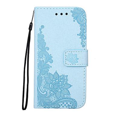 Capinha Para Samsung Galaxy S7 edge / S7 Carteira / Porta-Cartão / Com Suporte Capa Proteção Completa Lace Impressão / Flor Rígida PU Leather para S7 edge / S7 / S6 edge