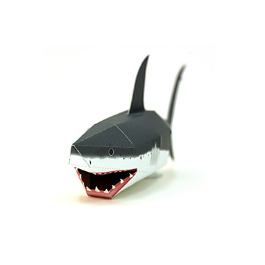 3D Puzzles Paper Model Paper Craft Model Building Kit Fish Shark DIY Classic Kid's Unisex Gift
