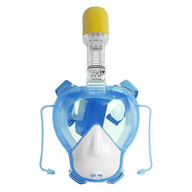 シュノーケルマスク ダイビングマスク 保護 ドライシュノーケル 安全・セイフティグッズ 180度 フルフェイスマスク NO TOOLSは必要ありません 水泳 潜水 シリコーン ガラス PVC