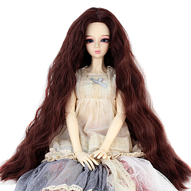 Perucas sintéticas Kinky Curly Mulheres boneca peruca Cabelo Sintético