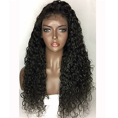 Vigin Hair Lace Front Wigs Peruvian Full Lace Human Hair Wigs Glueless Deep Curly Human Hair Wig Guleless Lace Front Wig For Black Women