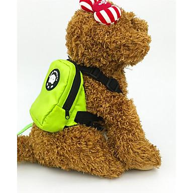 Cachorro Arreios Trelas Pacote de cão Portátil Dobrável Segurança Sólido Tecido Laranja Verde
