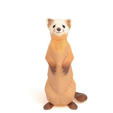 Quebra-Cabeças 3D Maquetes de Papel Brinquedos de Montar Artesanato de Papel Quadrada Urso 3D Animais Faça Você Mesmo Simulação Cartão de