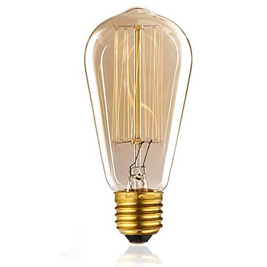 1pc 60W E26/E27 ST58 K Glødende Vintage Edison lyspære AC 220-240V V