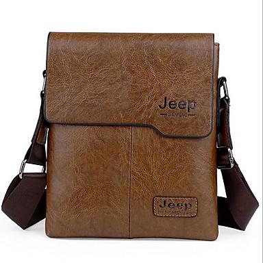 Men Bags All Seasons PU Shoulder Bag for Casual Outdoor Black Brown Dark Brown