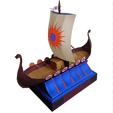 Quebra-Cabeças 3D Navio Navio pirata Pirata Faça Você Mesmo Cartão de Papel Duro Crianças Unisexo Dom