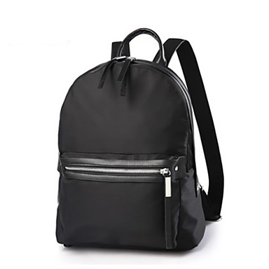 Women Backpack Oxford Cloth All Seasons Casual Traveling Round Zipper Black