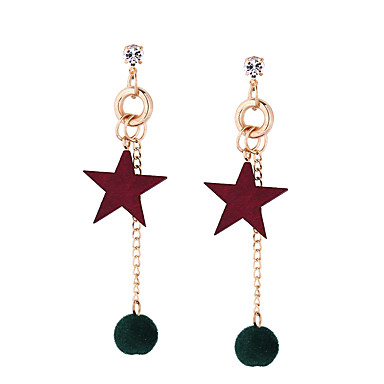 Mulheres Brincos Compridos - Estrela Personalizada, Borla, Fashion Cinzento / Vermelho / Verde Para Casamento Aniversário Housewarming